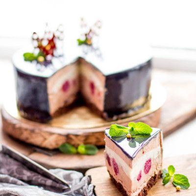 Муссовый торт Черный лес, любимая классика в современном виде