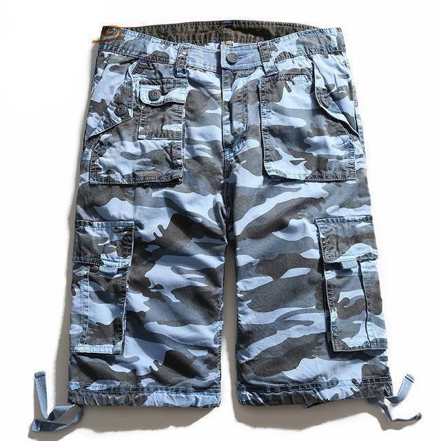 Men Shorts Summer Casual Plus Size Men's Camouflage Short Pants Fashion Loose Beach Shorts Military Boardshorts MKD017