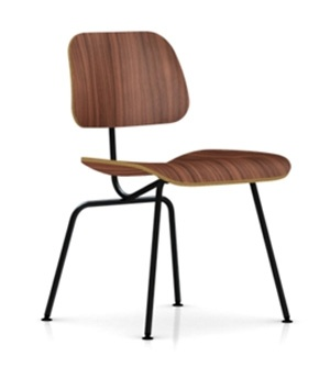 Eames Molded Plywood Dining Chair-Chrome Legs-OpenBox