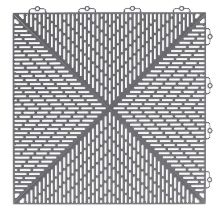 Bergo Unique Floor tile Colour: Grey Cloud