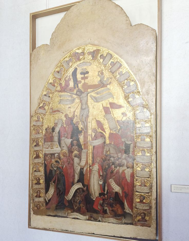 Pittore Veneto, La Crocifissione e Profeti, Sec. XIV