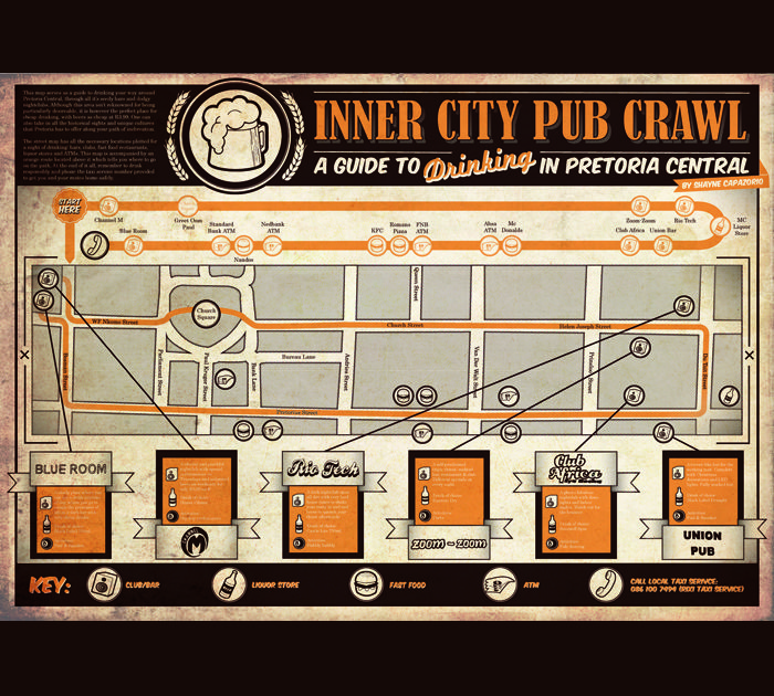 Inner City Pub Crawl by Shayne Capazorio