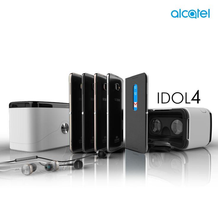 """No existen limitaciones con todo lo que podrás vivir usando el nuevo #IDOL4 de #Alcatel, un smartphone sin igual gracias a su pantalla FHD de 5.2"""", cámara de 13 MPXL y 8 MPXL con selfie flash, y la mejor experiencia de sonido. #BoomMeUp #MWC16 #JBL"""