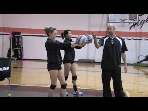 Volleyball Setting Drill Wall Ball - YouTube