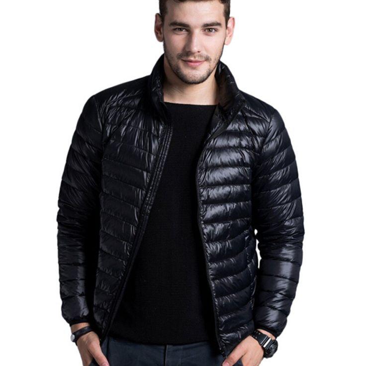 男性カジュアル暖かいジャケット固体薄い通気性冬ジャケットメンズ生き抜くコート軽量パーカープラスサイズxxxl hombre jaqueta