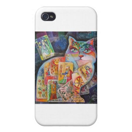 cat-tarot iPhone 4 covers available here:http://www.zazzle.com/cat_tarot_iphone_4_covers-256731526019733866  $37.95 #tarot #iphone