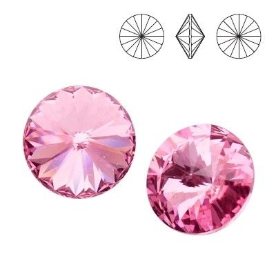 1122 Rivoli SS39 Light Rose F 2pcs  Dimensions: diameter 8,16-8,41 mm Colour: Light Rose F 1 package = 2 pieces