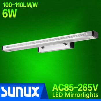 Free shipping, AC85~265V, 7W LED Mirror Front Wall Lamp 46CM Modern Brief Bathroom Wall Lights 50,000-hours Working Life