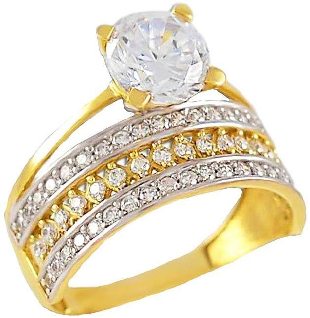 ΕΜ21Τ -Χρυσό μονόπετρο και δαχτυλίδι