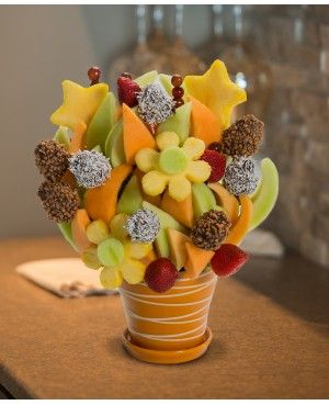 The Party Blossom™ scent free fruit bouquet are great for all occasions and make great gifts ideas or decorations from a proud Canadian Company. Great alternative to traditional flowers or fruit baskets