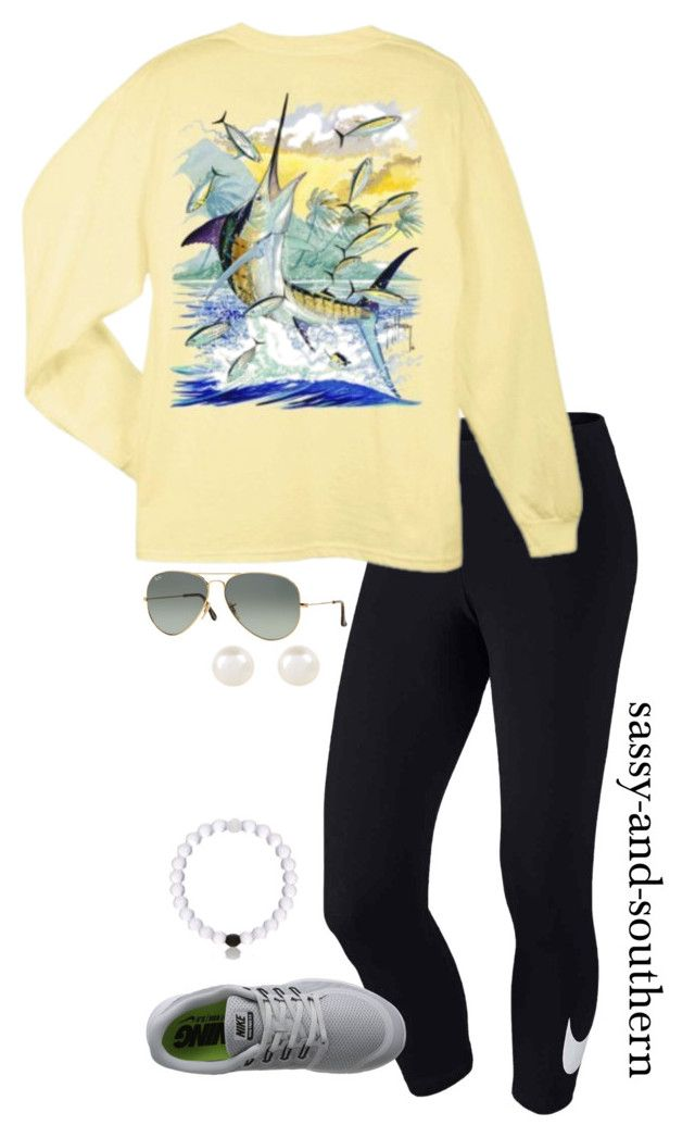 """""""outfit for fall?  how's everyone's sunday?"""" by sassy-and-southern ❤ liked on Polyvore featuring NIKE, Ray-Ban and Accessorize"""