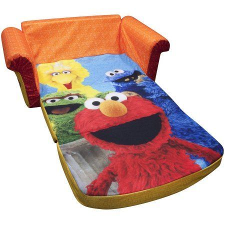 Marshmallow 2-in-1 Flip Open Sofa, Sesame Street's Elmo, Multicolor