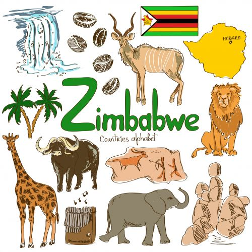 'Z' is for Zimbabwe with this next alphabetical countries free printable! Help your child learn about this exotic country today with the