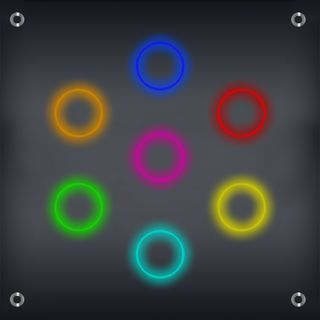 Music Simon: Listen to the note sequence played by the AI while observing the circles and then repeat it. Each succesful round makes the game harder and harder.