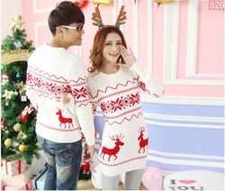 Online Shop Quality reindeer christmas sweater for men and women couples matching christmas sweaters for lovers couple Christmas sweaters|Aliexpress Mobile