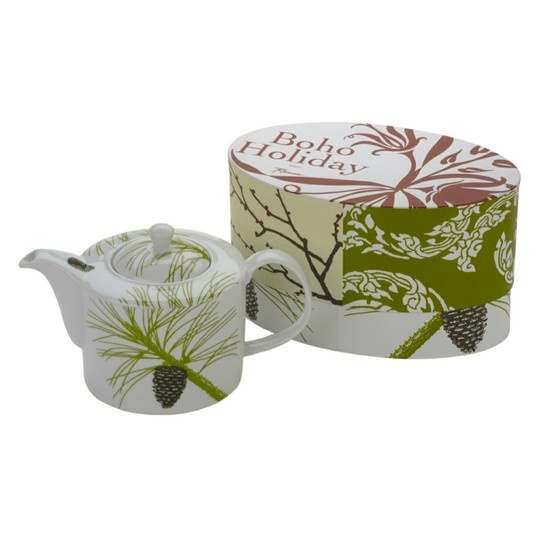 Boho Holiday pattern tea pot in a gift box - a greaa gift for the tea drinker!  £32.50 for a six cup pot - great value!  harpermack.com