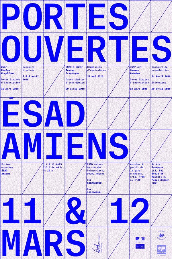 Portes Ouvertes ÉSAD d'Amiens on Behance