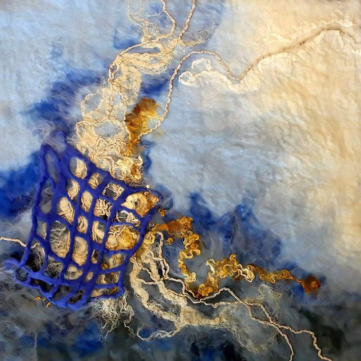 Rae Woolnough, Textile Artist. Lost fibre #felt #textile #handmade #handcrafted #artist #australianart #home #decor