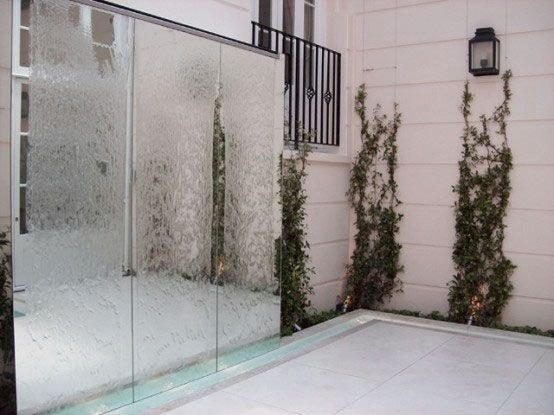 Water Wall Decor aa modern cube wheel water wall decor wwater fountain menu Garden Gorgeous Outdoor Water Walls Design Ideas With Fancy Glass Stone Fountains Landscape Features Large