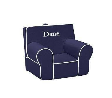 Navy with White Piping Anywhere Chair #pbkids