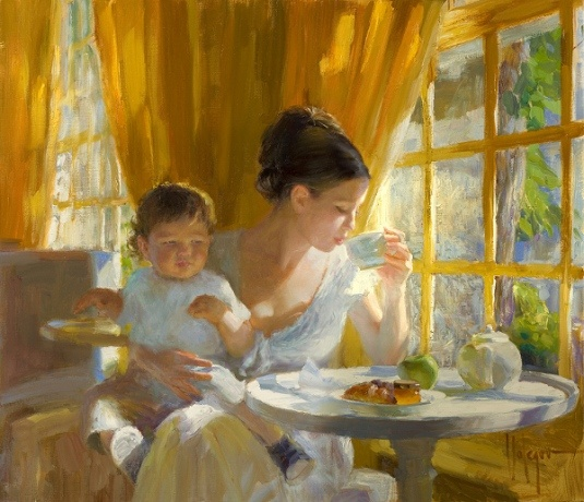make time for tea, make time for yourself, pass on tradition. Vladimir Volegov >> I really love this painting.