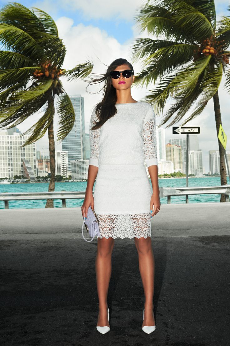 #lace #white #miami #woman