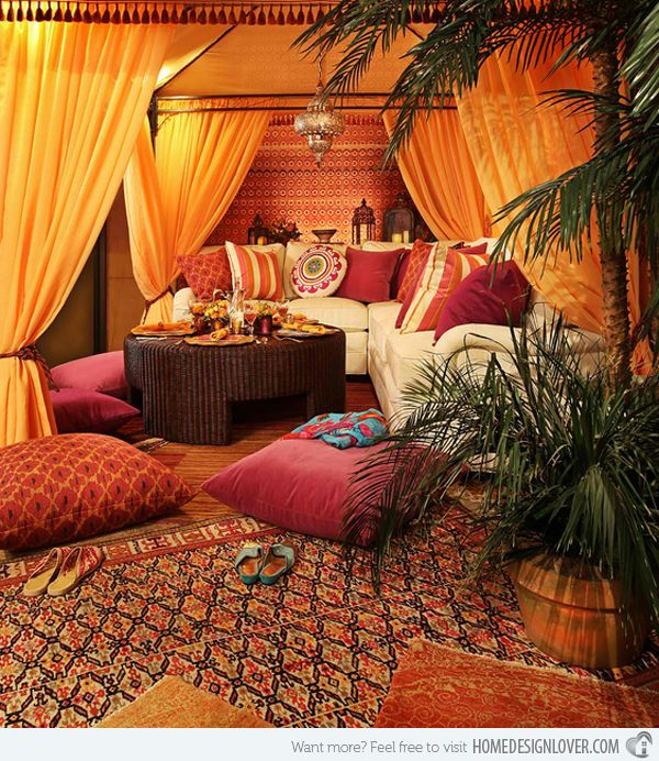 15 Outstanding Moroccan Living Room Designs | Home Design Lover Sigma would love that coffee table as her new fortress!