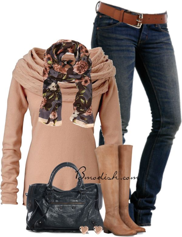Petit Point Pullover Casual Fall Outfit
