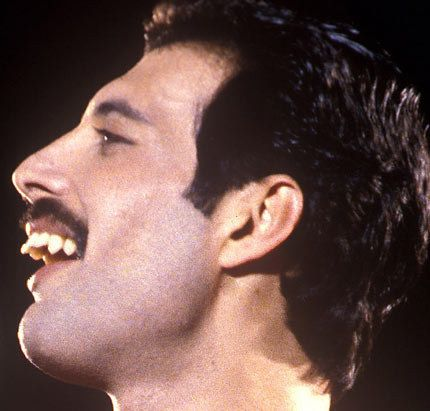 For those nay-sayers that say his teeth are ugly, UM. No. They're natural. And guess what? He's FREDDIE FUCKING MERCURY.