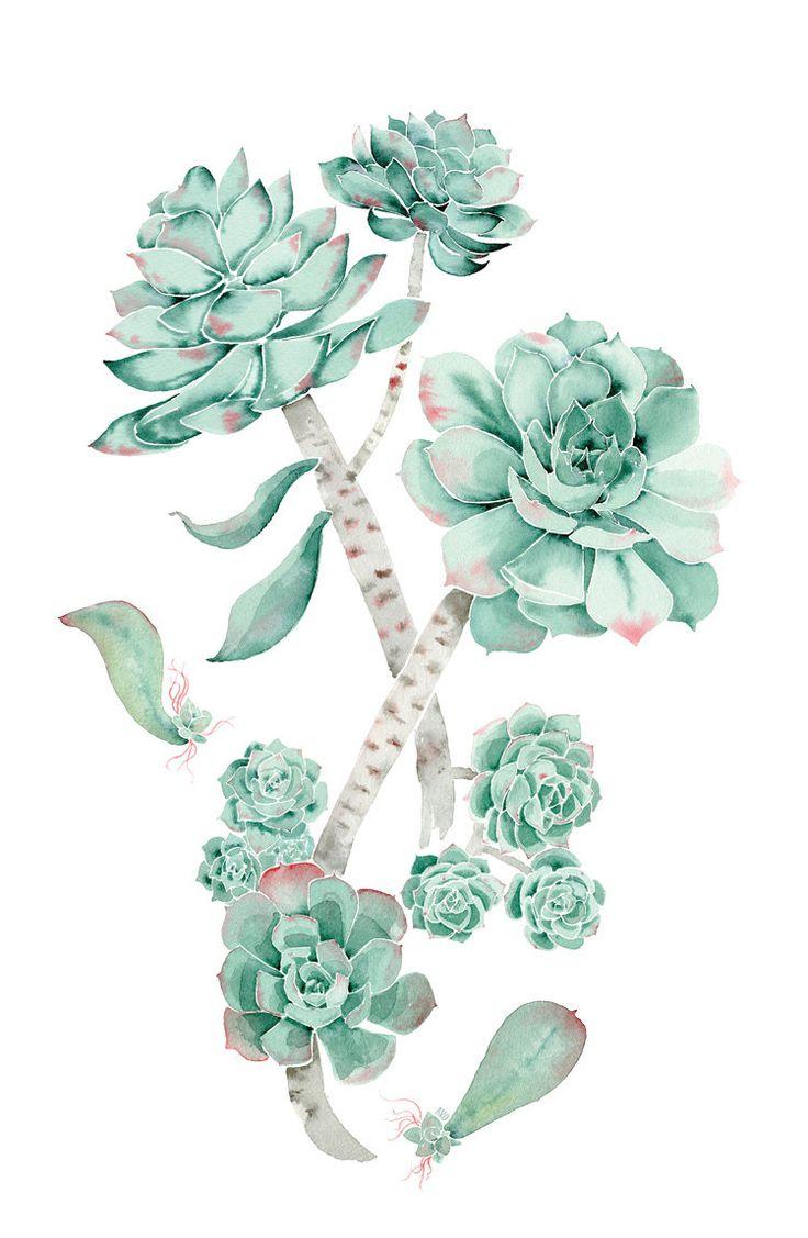 Flores verde esmeralda