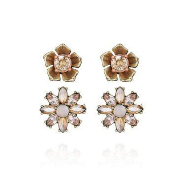 Gardenia Stud Duo Earrings