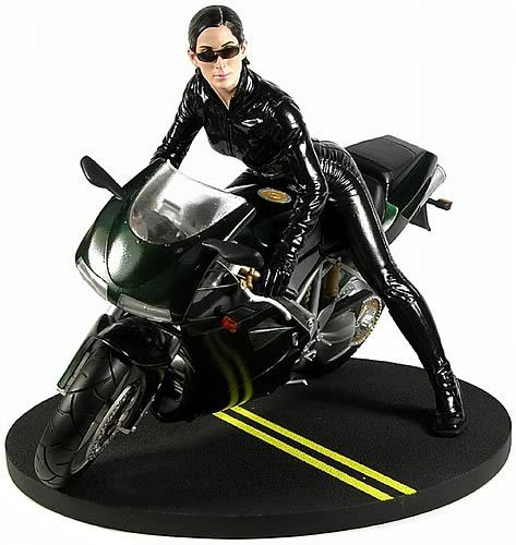 Carrie-Anne Moss as Trinity Statue