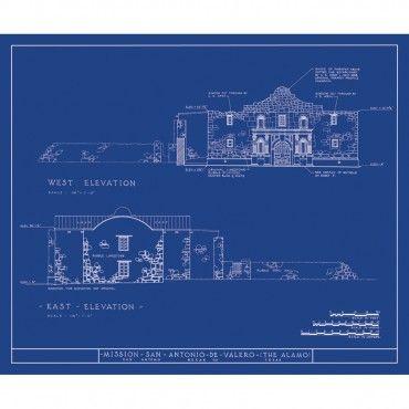 12 best blueprint art images on pinterest blueprint art adobe old blueprints alamo architectural drawing malvernweather Gallery