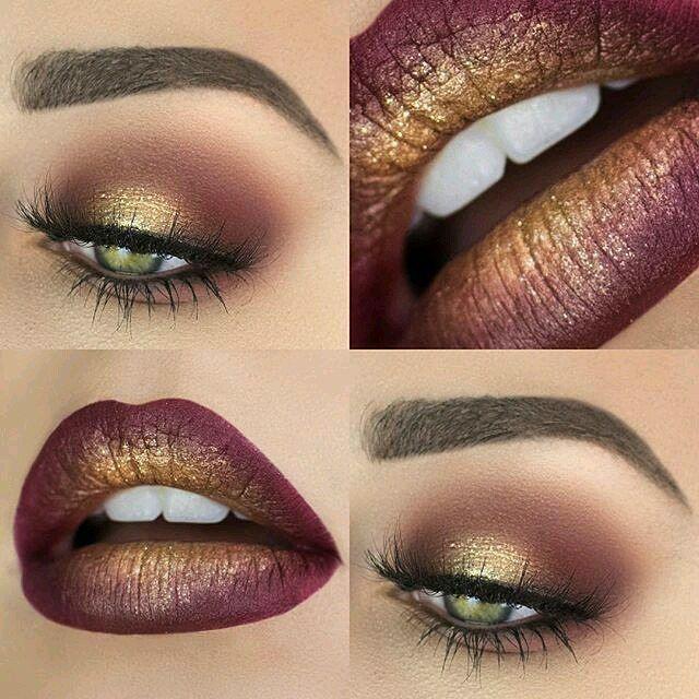 Yass. #ISlay #Slay #FallBeauty #FallMakeup #Burgundy #Gold #Gorgeous #MakeUp #Fleeky #Fall #Halo #EyeShadow #AnastasiaBeverlyHills #ABH #pigment #Matte #Sexy #Lipstick #Matte #WhatdatMoufDo #Fleeky #FleekyBrow #ColourPop #Cosmetics