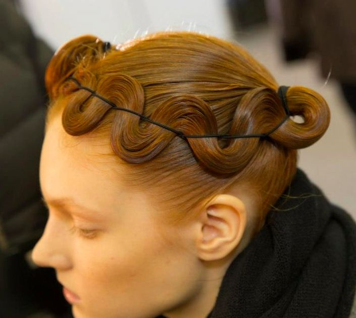 NYFW Fall/Winter 2013: Kimberly Ovitz Want more business?    Hair News Network    GET LISTED TODAY!!!    It's easy, it's quick, it's simple.    The most comprehensive directory for you the professional, and your clients.    Visit us at http://www.hairnewsnetwork.com/    Hair News Network.    All Hair. All The Time. #hair #womenshair #redhead