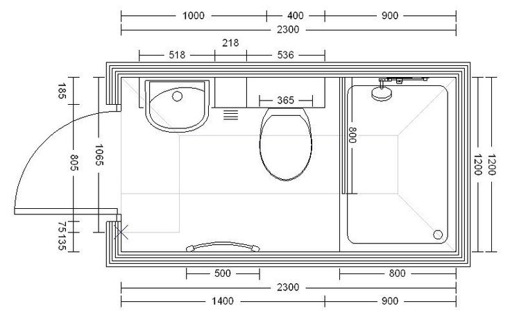 small shower room plans - Google Search