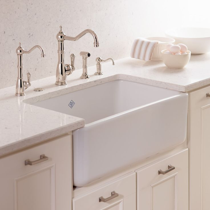 Kitchen Sink White: Rohl Shaws Original Fireclay Single Bowl Apron Sink