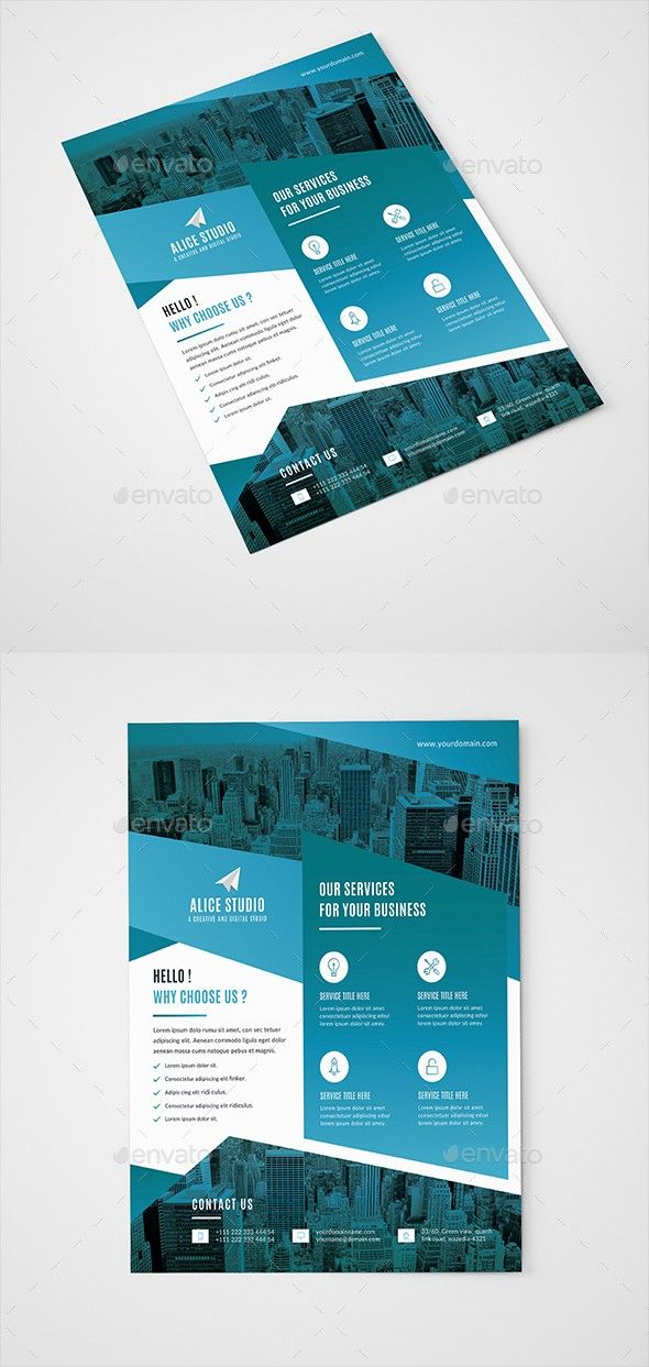 business flyer clean company flyer corporate corporate flyer