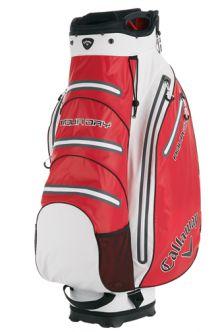 Bolsa de golf Callaway Aqua Dry para carro. La bolsa para palos de golf Aqua Dry de Callaway es una bolsa para carro que mantiene todos tus elementos secos y seguros en cualquier condición, llueva o haga sol.