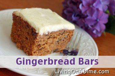 Easy Dessert Recipes – Johnny Appleseed Cake – Gingerbread Bars
