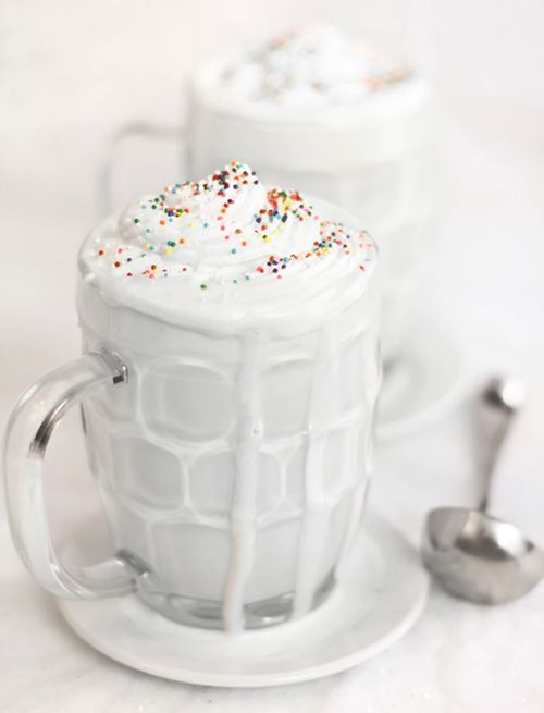 Sprinkle Bakes: Whiteout Cocoa - the recipe calls for skim milk and fat free half and half, but she says the original  was full-fat ingredients so for those who want the full-fat version (like me) then go for it