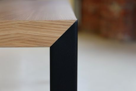 Details we like / Table / Wood / Black Frame / Connection / 45/45 Table / Furniture / ta lennartvanuffelen