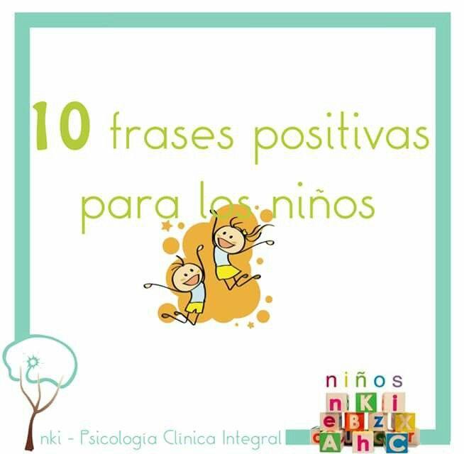 Frases positivas para niños