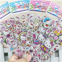 6pcs/lot 21cm Mixed Cartoon Peppa Pig Stickers