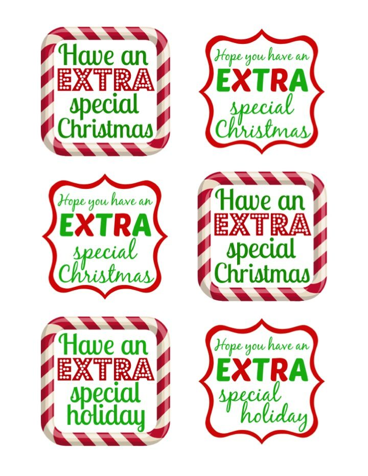 #GiveExtraGum Holiday Gift Tags