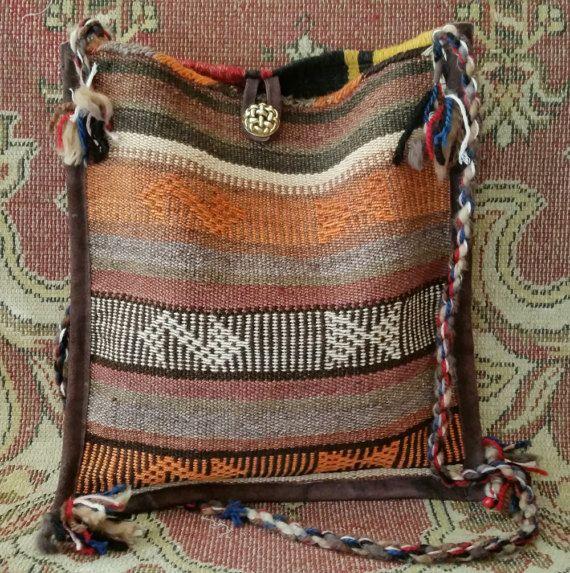 Bohemian Kilim Rug Shoulder Bag Vintage Kilim by OtantikArt