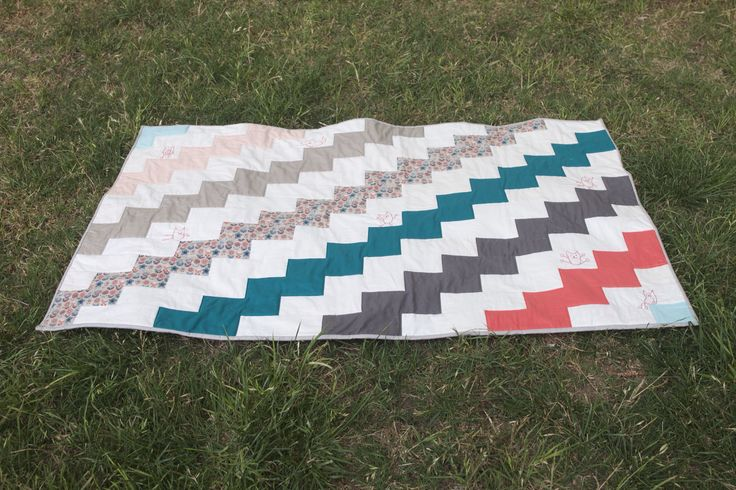 Baby stepping stone quilt for friends new baby
