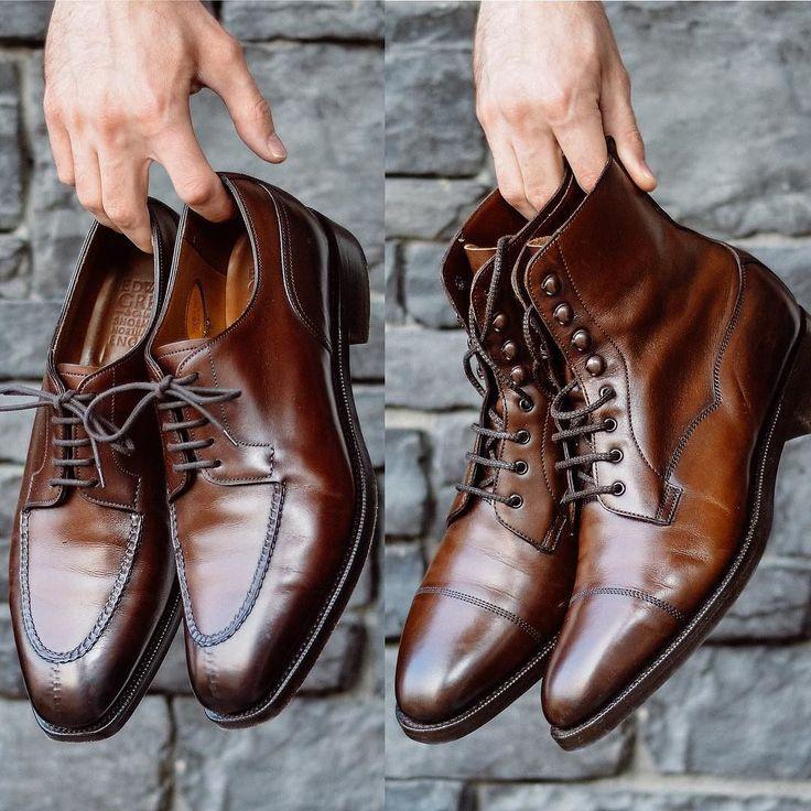 Is the Dover or Galway better in Dark Oak? @edwardgreen1890 showdown of two iconic model in arguably the best color they offer. . . . #burzanhands #edwardgreen #madeinengland #styleformen #dailylast #goodyearwelt #rakish #rakishgent #classicmenswear #stylishmen #menstailoring #stylishgent #madetobeworn #styleforum #mensshoes #mnswr #shoeshine #shineyourshoes #shoegazing #ptoman #shoegazingblog #shoesoftheday #shoestagram #mensweardaily #menswearblog #shoecare #sprezzatura #sartorial #yyc