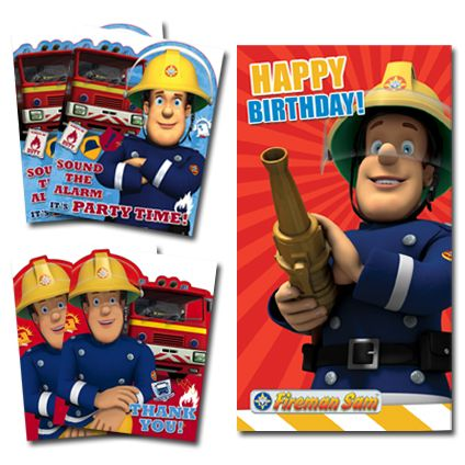 Fireman Sam Official BUMPER Birthday Party Pack includes: 1 x Birthday Card, 2 x Packs of 10 Party Invitations, 2 x Packs of 10 Thank You Cards. Only £10.99 and FREE UK Delivery  Take a closer look at https://www.danilo.com/Shop/Cards-and-Wrap/Birthday-Packs/Fireman-Sam-Birthday-Bumper-Pack