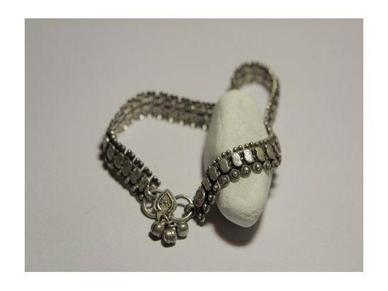 cavigliera argento antico